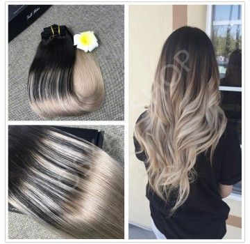 Extensii Clip-On Deluxe Balayage #1b Light Grey