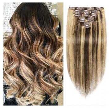 Extensii Clip-On Deluxe Balayage #4 #60