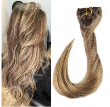 Extensii Clip-On Deluxe Balayage #7 #18L