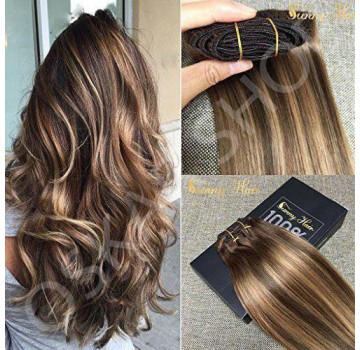 Extensii Clip-On Diamond Balayage Saten Suvitat #6 #24