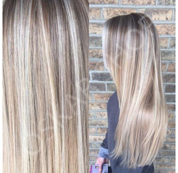 Extensii Clip-On Deluxe Balayage Suvitat #7 Light Grey