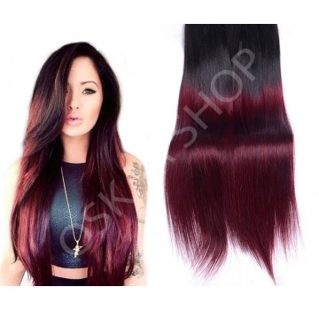 Extensii Clip-On Deluxe Ombre #1b Burgundy